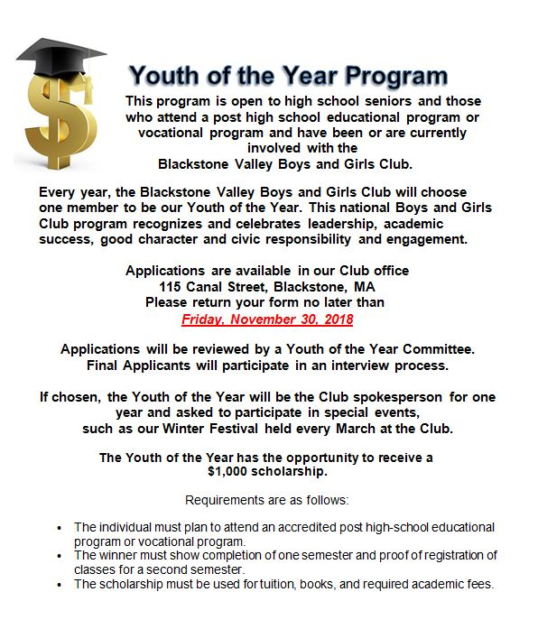 Youth of the Year Program